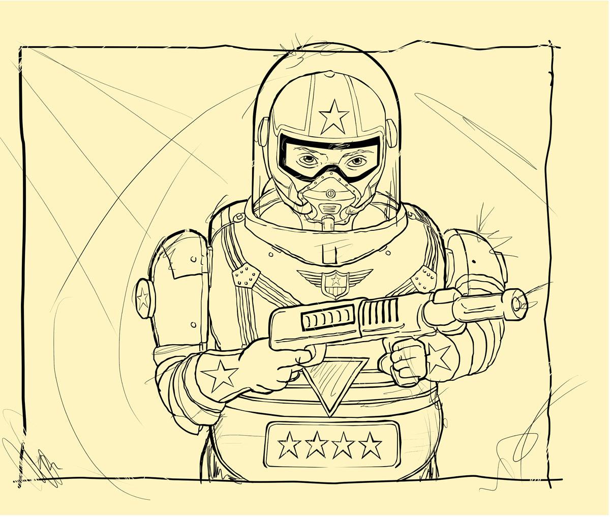 Line Art Robot : Line art todd bane